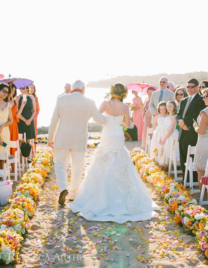 small beach wedding ceremony ideas%0A Four Seasons Manele Bay  Hawaii Destination Wedding  Father walking Bride  down the aisle  Photo by Rebecca Arthurs Dewey Seasons Bridal