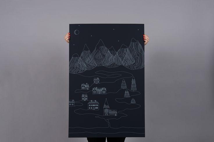 "Titta på det här @Behance-projektet: ""ANTALIS graphic winter poster"" https://www.behance.net/gallery/45433949/ANTALIS-graphic-winter-poster"