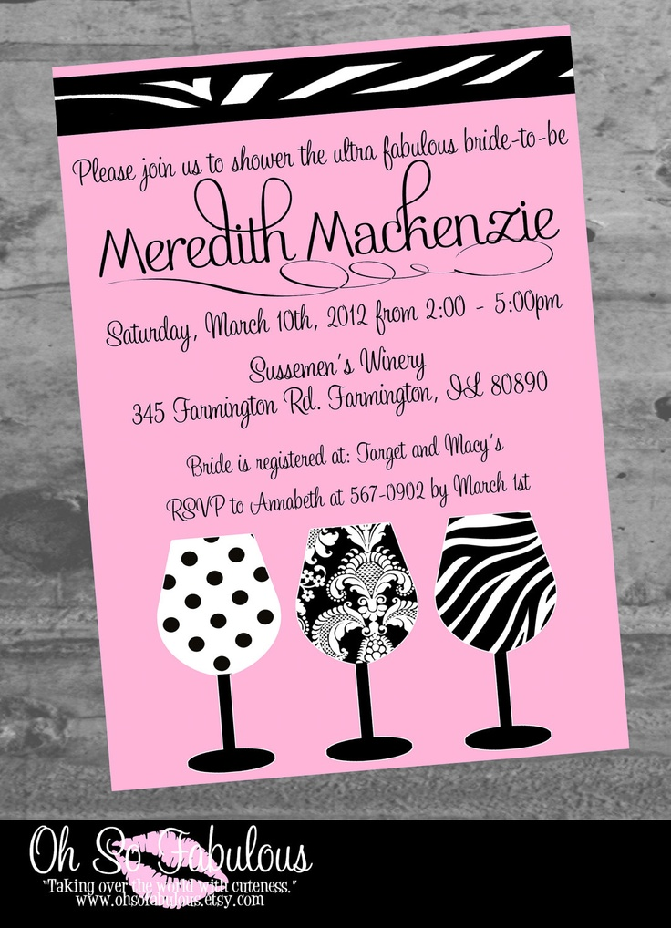 78 best Bridal ShowerBachelorette images – Bridal Shower and Bachelorette Party Invitations