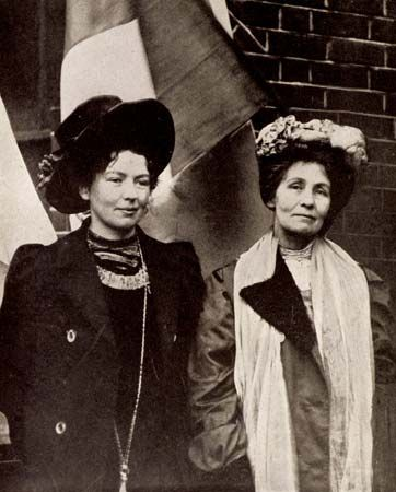 Women's Social and Political Union: Women's Social and Political Union (WSPU), militant wing of the British woman suffrage movement. WSPU was founded in Manchester in 1903 by Emmeline Pankhurst. Along with the