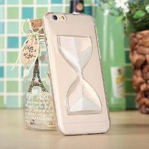 Пластиковый чехол Hourglass Песочные часы Белые для IPhone 5&5s
