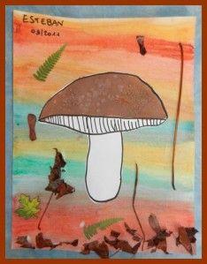 Suite et fin de mes petits champignons... Je me suis inspirée de ceci ART…