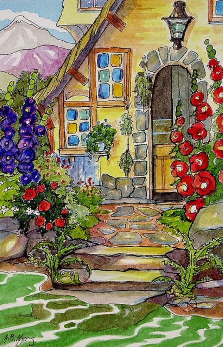 648 best embroidery houses images on pinterest for Piani di casa cottage storybook