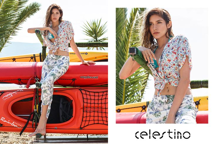 Hot in florals? Absolutely! Would you try a total floral outfit yourself? Special thanks to @PanExpeditions for hosting us! #Celestino #fashion #outfit #florals #styleinspiration #fashioninspo #beach #kayak #sports #fitgirl