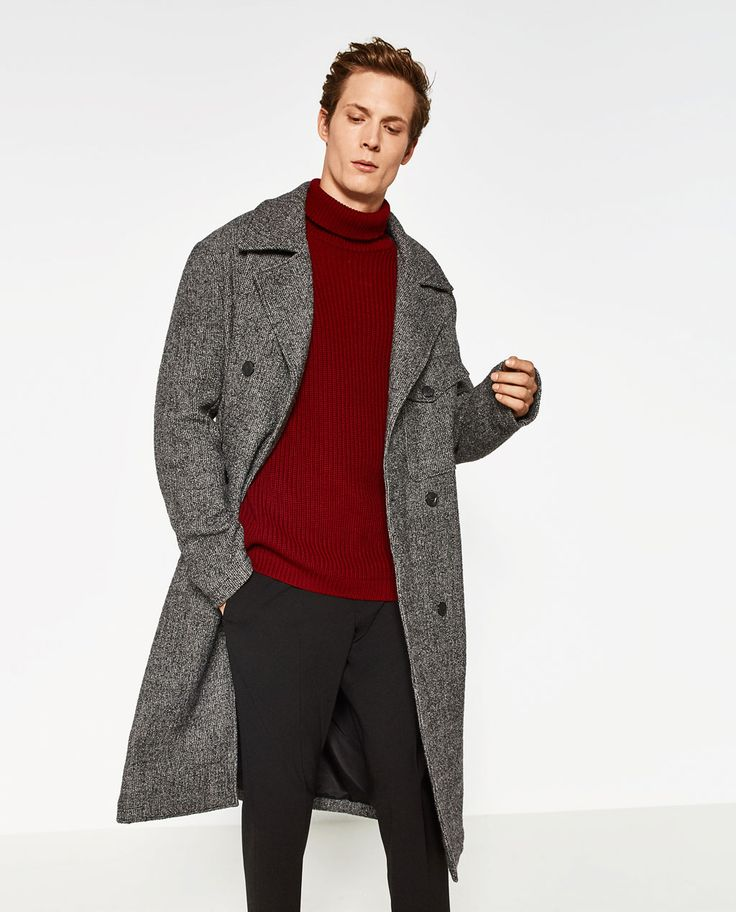 Image 2 of COAT WITH POCKET from Zara