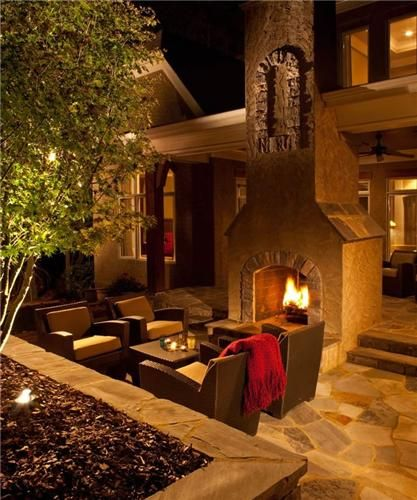 Outdoor Fireplace,  J'Nell Bryson Landscape Architecture,   Charlotte, NC