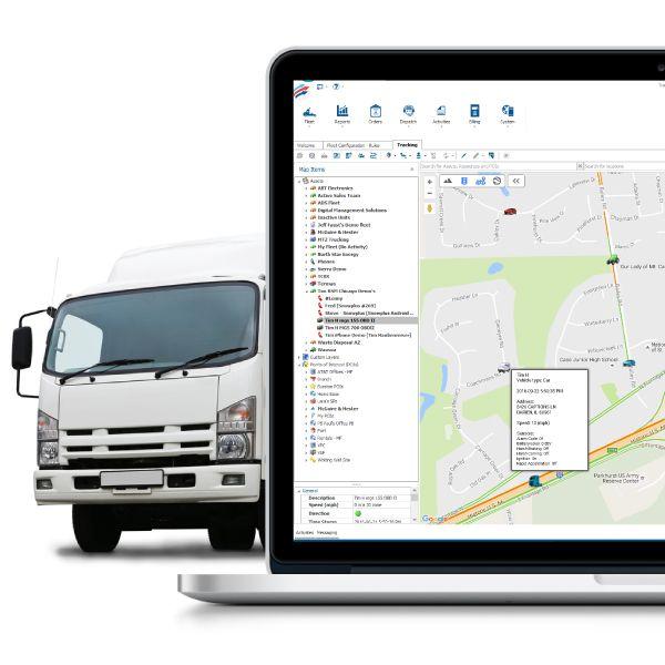 Fleet Tracker vehicle location screenshot