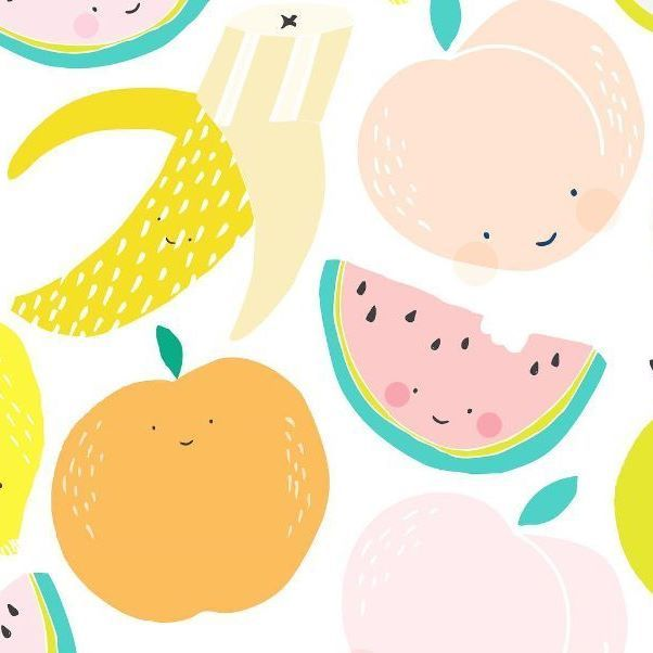 """*NURSERY INSPO* . Crushing over this super cute Fruit Salad (now I have the Wiggles stuck in my head) design from @victor_fox_design.....Perfect Pastel Palette inspo for a nursery! . """"Fruit Salad....yummy yummy"""" - What's your kiddo's fave Wiggles song?"""