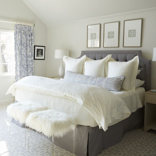 """Serene...love the three euro shams across the front to hide the """"sleeping"""" pillows."""