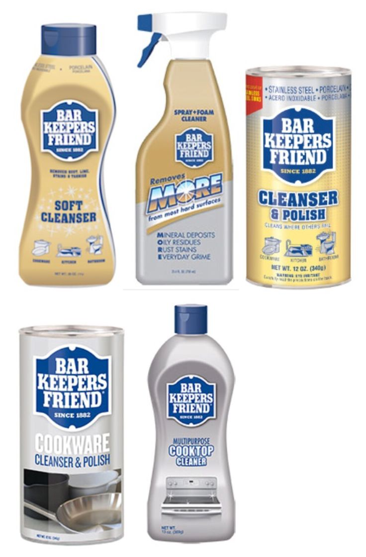 New products to try! I've used the powdered Barkeeper's Friend, but I just discovered the others. Must try. Not an ad. Just something I noticed in a big box store (Menards, not an ad either)
