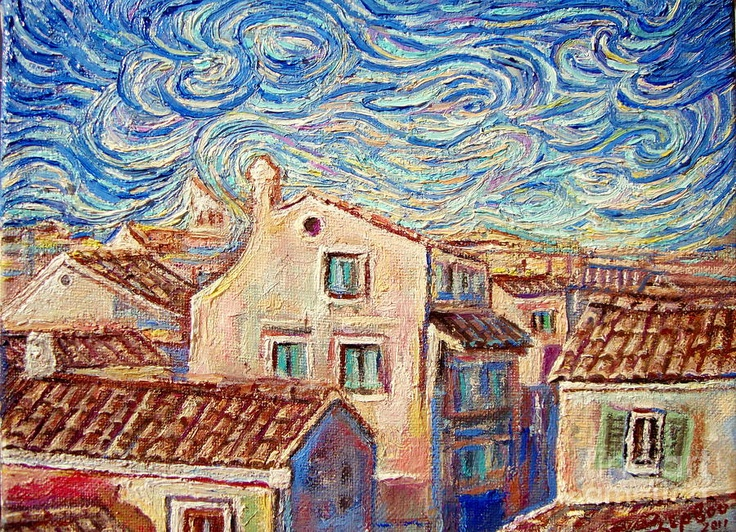Corfu old town new Painting.    Price    $380.00           Dimensions    24.000 x 18.000 cm.