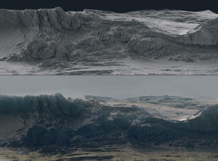 ArtStation - terrain surface production, Roman Porozov