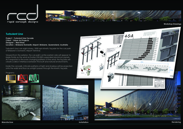 Ned Kahn - A turbulent line Brisbane Airport Rapid Concept Designs  Urban Art Projects