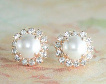 Creamrose Perlen Ohrringe Perlen Ohrringe von EndoraJewellery