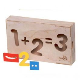 Lockable box with cut-out shapes and 27 eco/coulour elements  for learning  how to count. Made by Neo-Spiro.