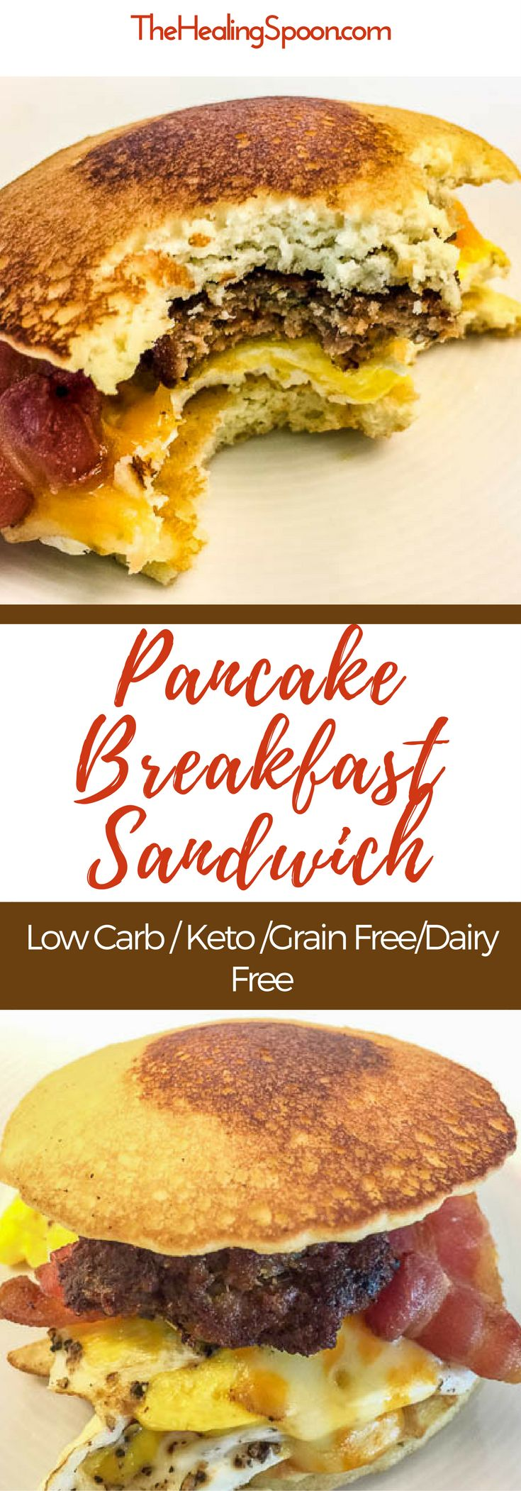 #keto and low carb pancake breakfast sandwich, perfect for #mealprep