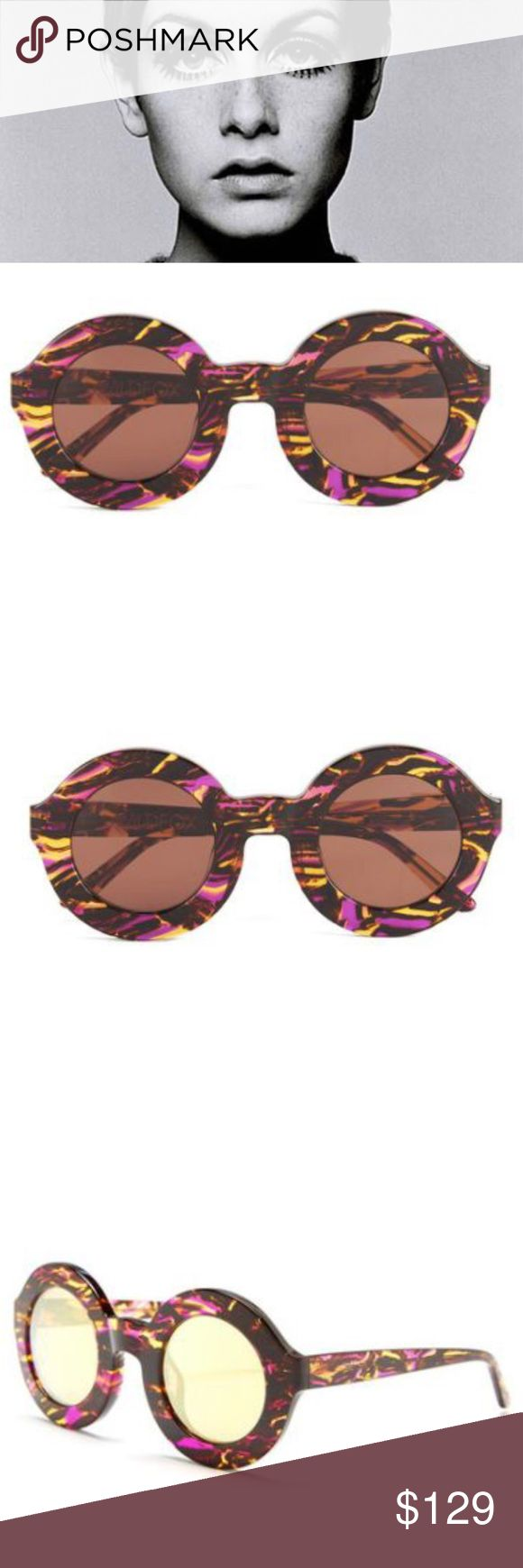 """Wildfox """"TWIGGY Montage tortoise sunnies WILDFOX TWIGGY MONTAGE ROUND SUNGLASSES  TORTOISE FRAME  RETAIL $180 NEW IN BOX  Peace, love, and super-round sunnies. The Twiggy frame is inspired by our favorite 60's babe. Handmade with Italian acetate. CR39 optical grade lenses offering UV A and B protection. 5 barrel French comotec hinge. Case and cleaning cloth included.   Eye width: 44mm  Bridge Width: 13mm  Temple length: 145mm Wildfox Accessories Sunglasses"""