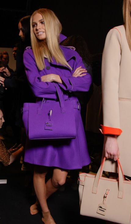 What a cute purple outfit - and with a matching bag!