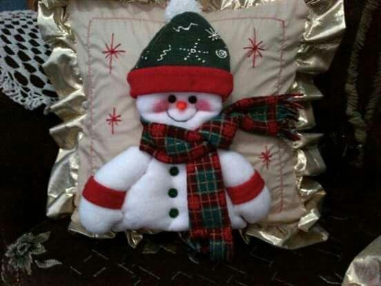 cojin muñeco de nieve