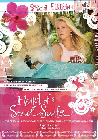 Heart of a Soul Surfer: The Bethany Hamilton Story (2007) Film - Learn More on CFDb. http://www.christianfilmdatabase.com/review/heart-of-a-soul-surfer-the-bethany-hamilton-story/