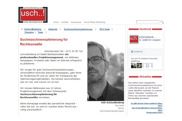 Homepage Suchmaschinenoptimierung  www.talking-text.de
