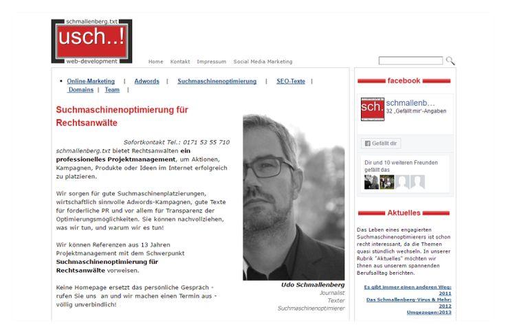 Homepage Suchmaschinenoptimierung  www.talking-text.de