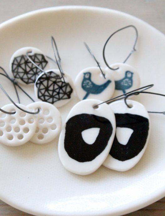 porcelain earrings                                                                                                                                                                                 Más