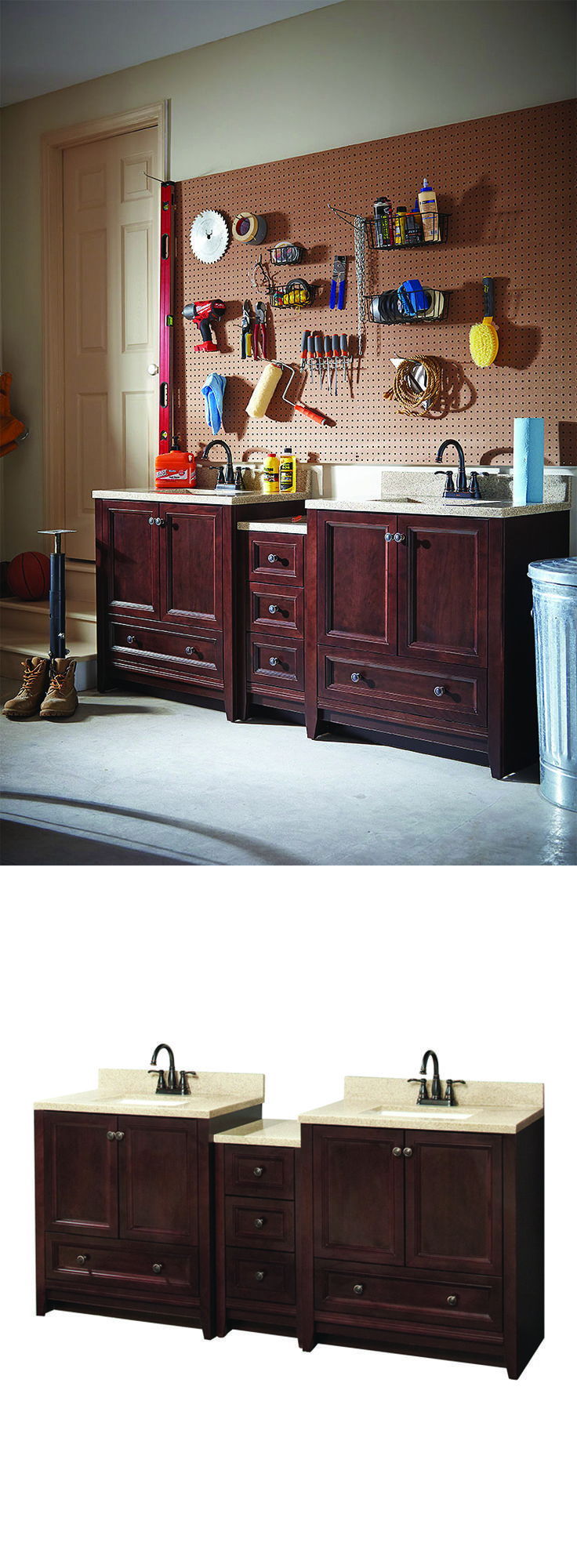 bathroom vanities in 3 unexpected places - Home Depot Design