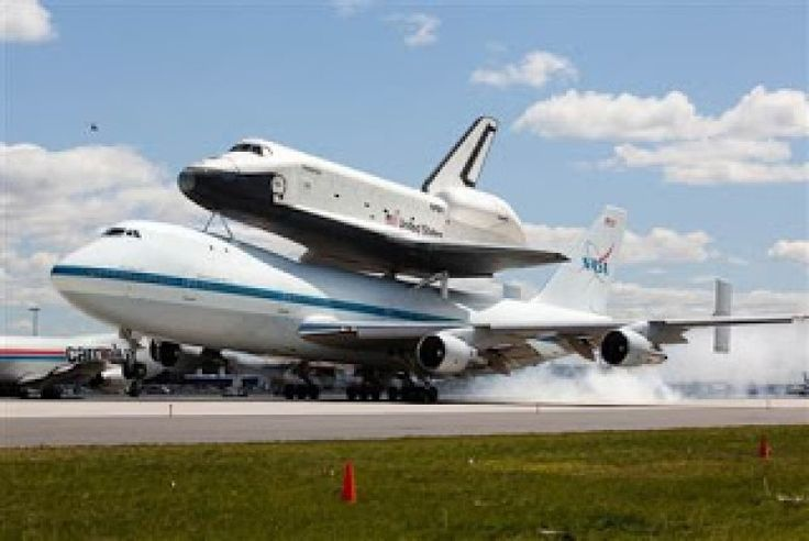 A Boeing 747 with a space shuttle on the back!!!