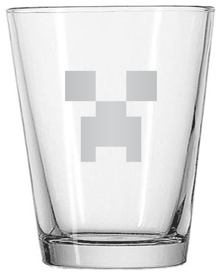 Minecraft Video Game Creeper Custom Etched Shot Glass. $9.13, via Etsy.