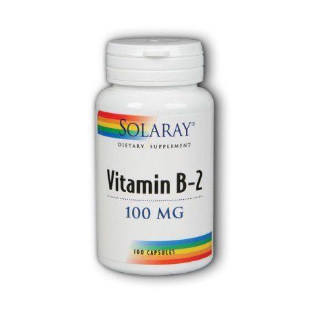 Solaray Vitamin B-2 100 mg - 100 Capsules