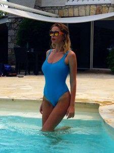 Alessia Marcuzzi http://www.lapinella.com/2013/07/12/costume-intero-ecco-perche/  #muryx #muryxswimwear #aldabra #swimsuit #swim #paradise #bay6