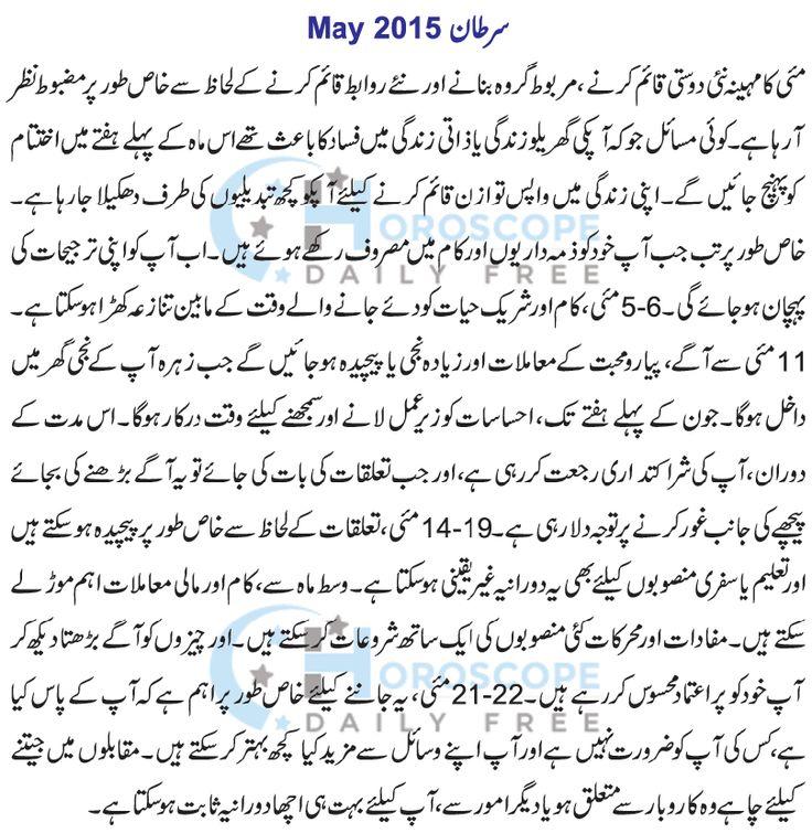 Cancer Monthly Horoscope in Urdu 2015