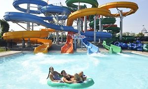 Groupon - Pool and Ride Combo Tickets with Pizza for Two or Four at Coney Island (Up to 43% Off) in Anderson. Groupon deal price: $40