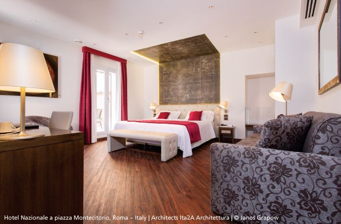 Various #Melampo in this hotel room.  The table lamp ► http://bit.ly/1wShfq9 And the wall mounted as bedside lamp ► http://bit.ly/1jCqLnd  #design Studio Adrien Gardère