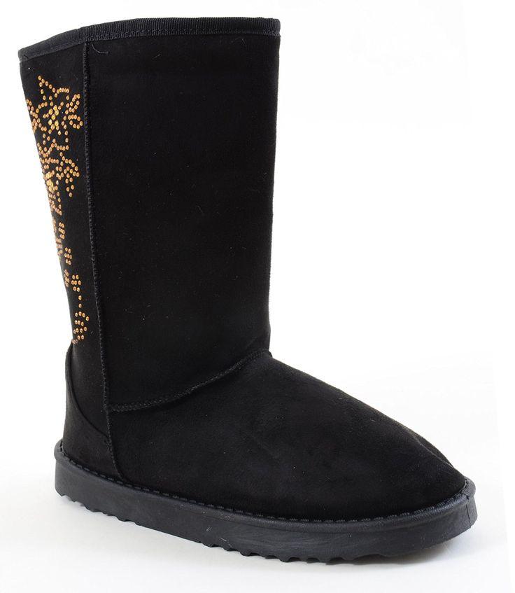 Furry Vegan Shearling Suede Fleece Women's Flat Boot