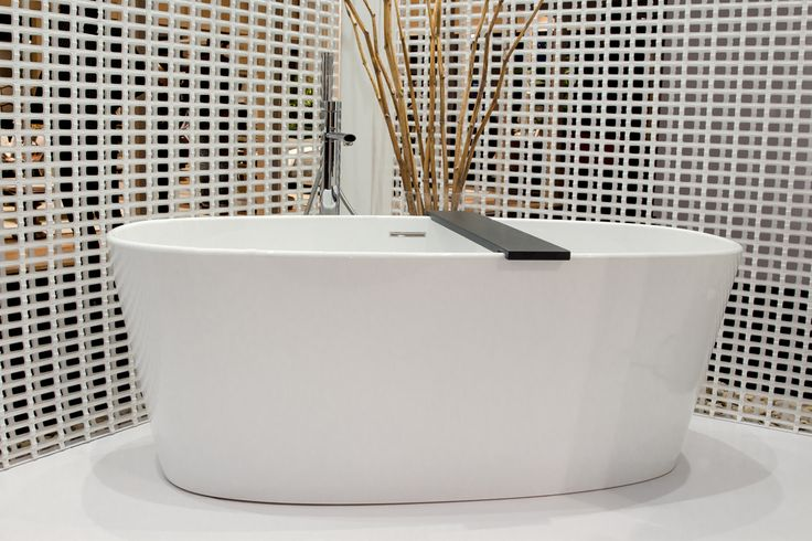 The OVE bathtub is your personal sanctuary from the outside world. As seen here at the Interior Design Show in Toronto during 2017.