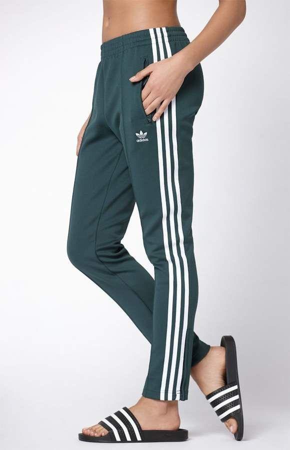 Adidas Adicolor Green Sst Track Pants Adidas Pants Women Adidas Pants Adidas Track Pants Outfit