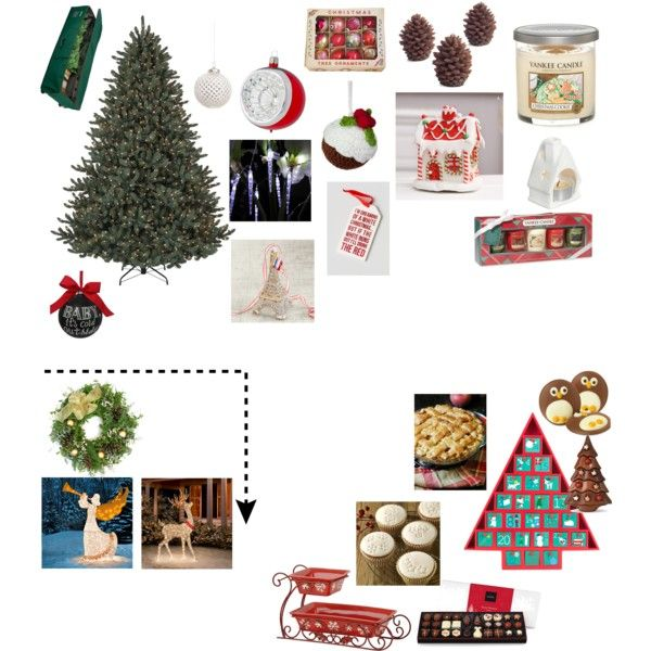 Christmas Decorating Ideas By Whyareallthegoodnamestaken123 On Polyvore  Featuring Interior, Interiors, Interior Design, Home