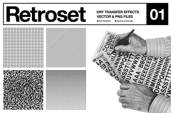 Retroset - Dry Transfer Effects by Offset on @creativemarket