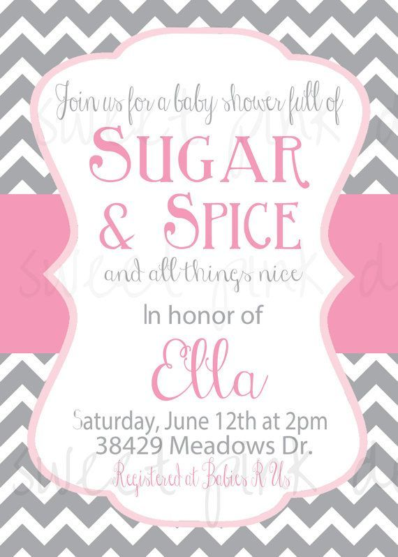 64 best sugar and spice baby shower theme images on pinterest, Baby shower invitations