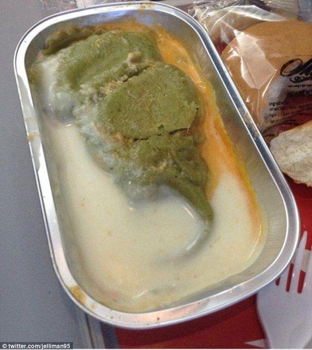 #интересное  Самая ужасная еда, которую подают в самолётах (10 фото)   Многие любят летать на самолете в основном и потому, что на борту чаще всего подают вкусные блюда. Но всегда ли еда на борту выглядит аппетитно? Предлагаем Вам взглянуть на самое ужасное, что ког