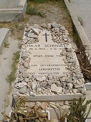 One of the most-visited graves in Jerusalem belongs to Oskar Schindler, the German factory-owner and Nazi Party member credited with saving the lives of 1098 Jews during the Second World War.    His grave in the Catholic cemetery on the southern slope of Mount Zion is visited by Jews, Christians and people of no religious faith