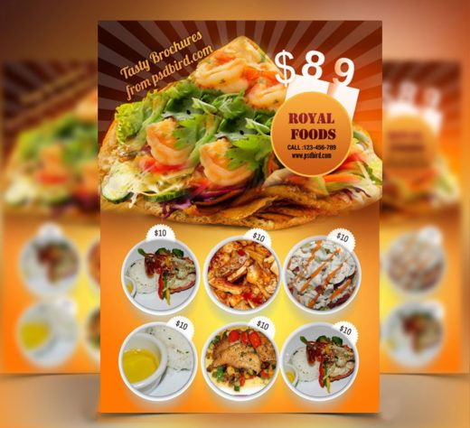 15 Unique Free PSD Restaurant Menu Templates - DotCave Food and - lunch menu template free