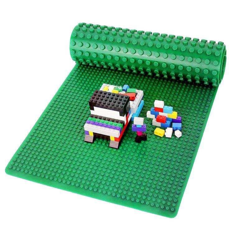 Spielstein Baustein Platte Grundplatte Doppelseitig Grün (80x30cm, rollbar) | eBay