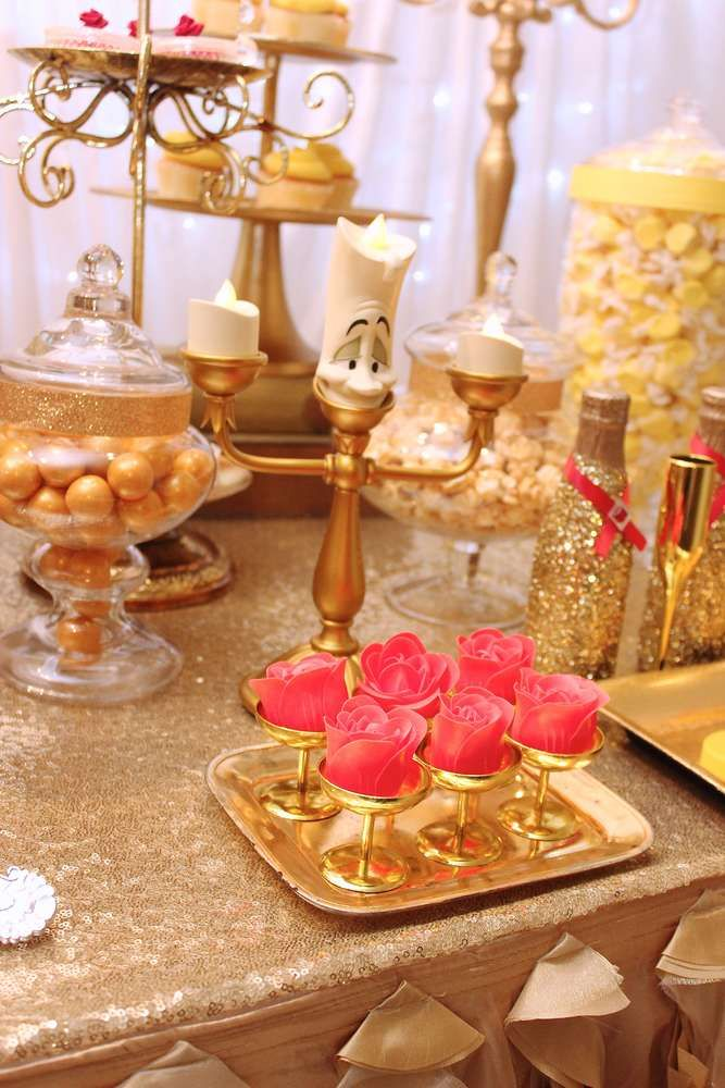Loving the sweet treats at this Beauty and the Beast Birthday Party!! See more party ideas and share yours at CatchMyParty.com