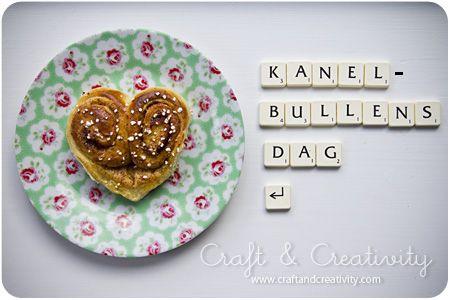 scrabble and heart-shaped bun *love*