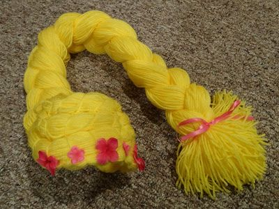 DIY Rapunzel wig - Create with Kiddos great for princess parties