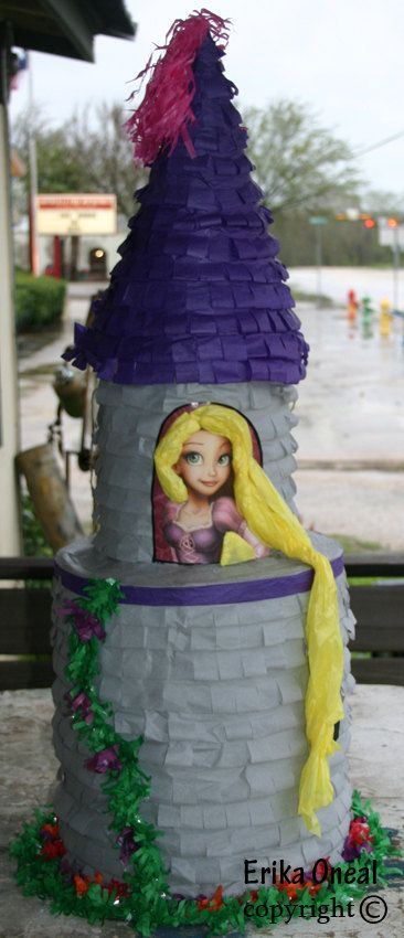 Tangled Repunzel Pinata Custom Made Pinatas. $45.00, via Etsy.