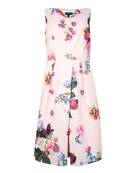 DEAVON - Floral printed dress - Nude Pink | Womens | Ted Baker